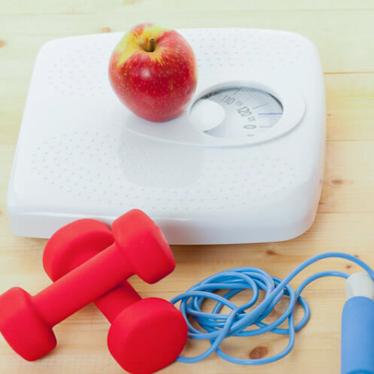 scales, fruit and fitness equipment